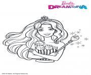 Barbie au Royaume des Bonbons Fille dessin à colorier