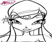 Gulli Winx Club Musa et la musique dessin à colorier