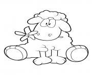Mouton 18 dessin à colorier