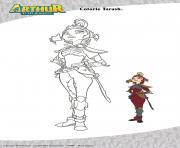 Tarash Arthur et les Minimoys dessin à colorier