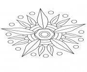 Mandala fleur 12 dessin à colorier