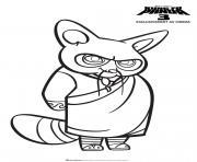 Shifu de Kung Fu Panda dessin à colorier