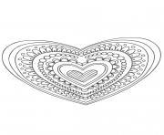 Gulli Mandala coeur dessin à colorier
