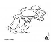 Hane Goshi dessin à colorier
