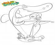 Sharko Marina et Zig dessin à colorier