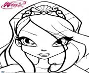 Coloriage Winx Club Bloom et le pouvoir de la Flamme du Dragon