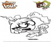 Gulli Lisa de Bienvenue chez les Loud Gulli dessin à colorier