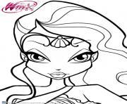 Gulli Winx Club Layla et les fuides dessin à colorier