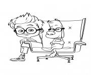 Coloriage MrPeabody Sherman Sherman et Mr Peabody 2