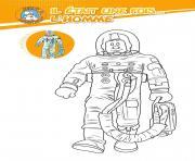 Jeune pilote de la police spatiale dessin à colorier