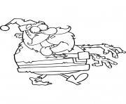 Noel le Pere Noel Zombie dessin à colorier