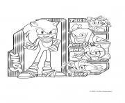 Gulli Sonic et son equipe dessin à colorier