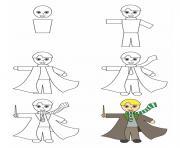 comment dessiner draco malfoy dessin à colorier