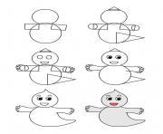 comment dessiner un fantome dessin à colorier