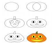 comment dessiner citrouille halloween dessin à colorier