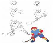 comment dessiner hockey sur glace dessin à colorier