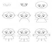 comment dessiner une poupee dessin à colorier
