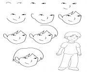 comment dessiner un garcon dessin à colorier
