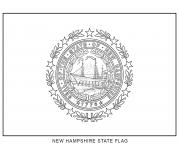Coloriage new hampshire drapeau Etats Unis
