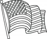 united states drapeau dessin à colorier