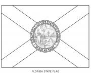 florida drapeau Etats Unis dessin à colorier