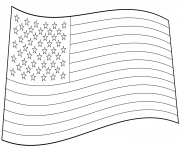 usa drapeau american dessin à colorier