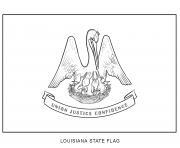 louisiana drapeau Etats Unis dessin à colorier