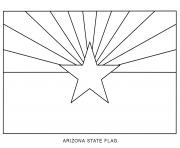 Coloriage arizona drapeau Etats Unis