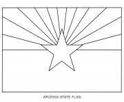 arizona drapeau Etats Unis dessin à colorier