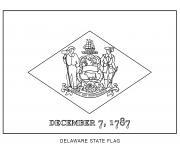 delaware drapeau Etats Unis dessin à colorier