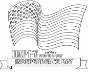 happy fourth of july dessin à colorier