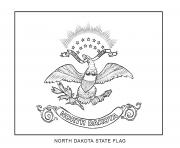 Coloriage north dakota drapeau Etats Unis