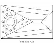 ohio drapeau Etats Unis dessin à colorier