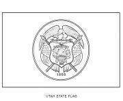 utah drapeau Etats Unis dessin à colorier