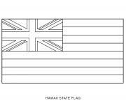 Coloriage hawaii drapeau Etats Unis