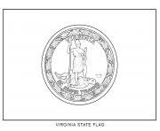 Coloriage virginia drapeau Etats Unis