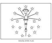indiana drapeau Etats Unis dessin à colorier