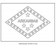 Coloriage arkansas drapeau Etats Unis