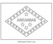 arkansas drapeau Etats Unis dessin à colorier