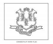 connecticut drapeau Etats Unis dessin à colorier