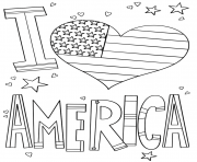 Coloriage i love america