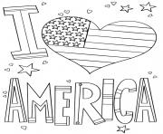 i love america dessin à colorier