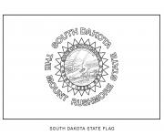 south dakota drapeau Etats Unis dessin à colorier