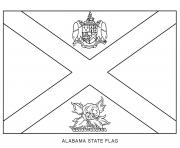 Coloriage alabama drapeau Etats Unis