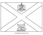 alabama drapeau Etats Unis dessin à colorier