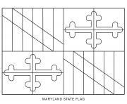 maryland drapeau Etats Unis dessin à colorier