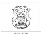michigan drapeau Etats Unis dessin à colorier
