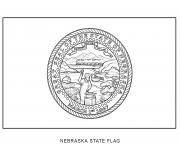 nebraska drapeau Etats Unis dessin à colorier