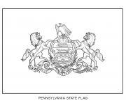 pennsylvania drapeau Etats Unis dessin à colorier