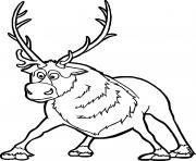 Sven Kristoffs ami loral La Reine des neiges dessin à colorier